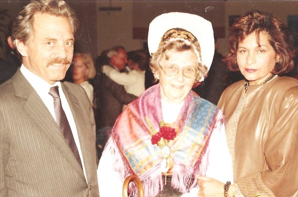 Janez in Sandra Hlebanja z Slovenko Ljubo Malgaj () v Sao Paulu