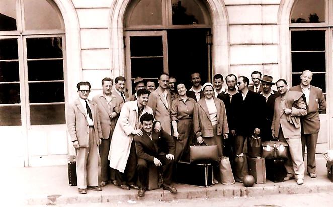 Avseniki prvič v tujini 1956 Francija2523